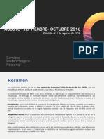 Pronostico Climatico Trimestral JAS 2016