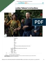 Los Obama Festejan Su Último _Halloween_ en La Casa Blanca