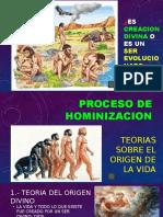 Hominización y Teorías