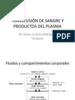 Transfusión de Sangre y Productos Del Plasma