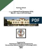 Summer School of CFD 2016 Brochure
