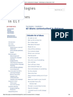 60 Idioms Contextualised in Dialogues - Methodologies and Approaches in ELT