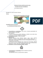 Tarea Plasticos Mas Utilizados en Ecuador