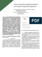 Comportement et Calcul du Champ Electromagnétique Engendré à Proximité de Lignes d'Energie Transportant des Signaux HF.doc