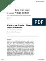 Pathos Et Praxis