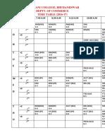 Rajdhani College Time Table