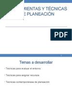14- Herramientas y Técnicas de Planeación