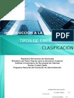 Clasificación y Tipos d Empresas