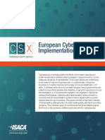 European Cybersecurity Implementation Overview Res Eng 0814