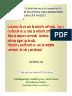 Condiciones Salas Dr. Sanchez Paya 18-05-12 - Ambiente Controlado
