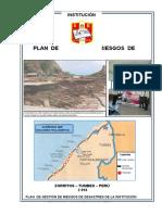 Plan de Riesgos de Desastres de La Institución Educativa