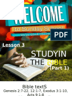 Studying the Bible (Part 1&2).