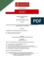 Programa Lic D. Constitucional I TA 2016 17