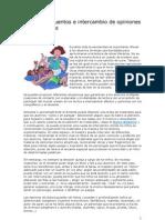 Lectura de Cuentos e Inter Cam Bio de Opiniones Entre Lectores