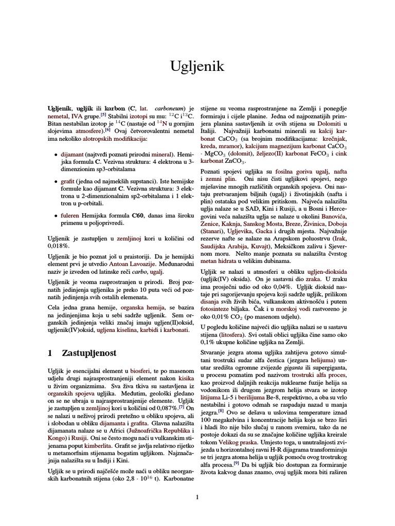 Ugljik definicija wikipedia