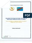 Feuille de route du dialogue en RDC