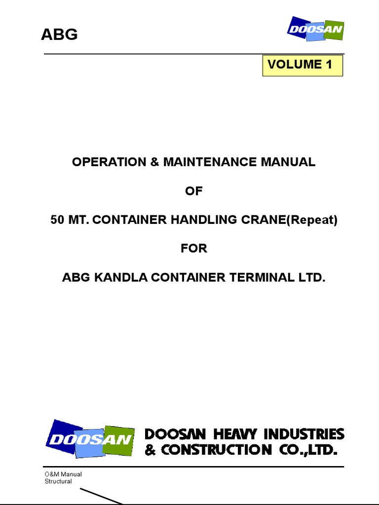 V0l 1-Manual for Structure Part-Doosan STS | Mechanical Engineering |  Materials