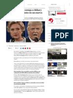 Donald Trump Aventaja a Hillary Clinton Por Un Punto en Un Nuevo Sondeo