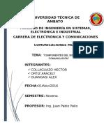 Componentes Del Sistemas de Comunicación