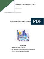 Clasa a XII - Caiet Practica