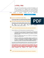 Calificación de PPM y PMA