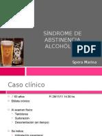 Síndrome de Abstinencia Alcohólica
