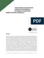 Artigo Avaliação Antibacteriana Dos Extratos