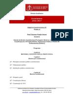 Programa Lic D. Constitucional II TA 2016 17