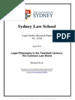Legal Philosophy in the twentieth century
