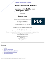 The Buddha's Words on Kamma