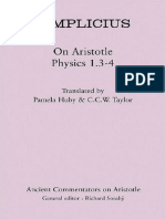 (Ancient Commentators on Aristotle) Simplicius, C.C.W. Taylor, Pamela M. Huby (Transl.)-Simplicius_ on Aristotle Physics 1.3-4-Bristol Classical Press (2011)