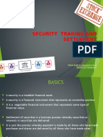 Security Trading, Settlement and Regulations