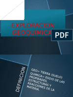 EXPLORACION GEOQUIMICA