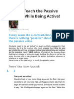 How to Teach the Passive Voice
