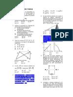 Problemas de Física de Examen de Admisión