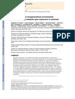 Paternal Induced Transgeneratonal Enviromental Reprogramming of Metabolic Gene Expression in Mammals