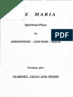 Johnstone Gounod Bach Clarinet Cello Piano