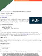 Avoiding Singleton Abuse - Architecture - Objc.io Issue #13