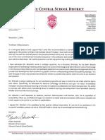 overholt reference letter