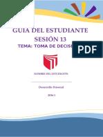 GUÍA NÚMERO 13 - TOMA DE DECISIONES