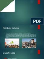 Apresentação resíduos sólidos