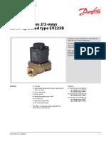 Solenoid valves 2/2-ways servo-operated type EV225B