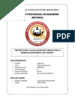 Método Para La Evaluación Del Riesgo Por La Manipulación Manual de Cargas