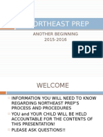 northeast prep orientation january 2016