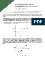 Interpolacic3b3n y Ajustes de Curvas