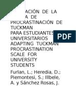 adapctacion de la escala de la procrastinacion tuckman