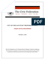 Civic Federation Report on Chicago 2017 Budget