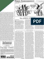 The Platteville Journal The First Amendment Jan. 20, 2016