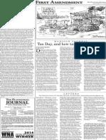 The Platteville Journal The First Amendment Jan. 27, 2016