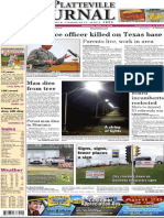 The Platteville Journal front page April 13, 2016